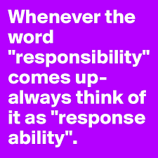 You Are the One Responsible For Your Life